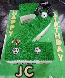 Nr 2 themed cake - soccer