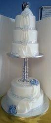 5Tier wedding cake with drapes