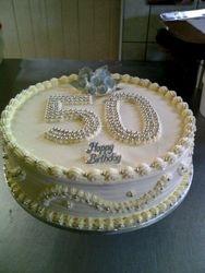 50th Birthday cake - Fresh cream