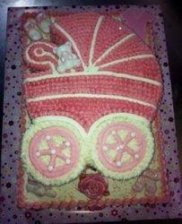 Pram themed cake for girl
