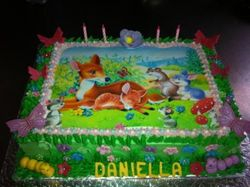 Bambi Edible print Birthdaycake