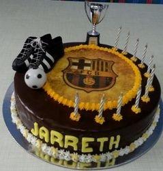 Spanish soccer themed cake