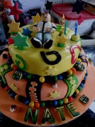 Ben Ten themed 2tier cake