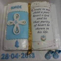 Bible themed cake for boy