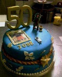 """""""50th"""" Fisherman Cake"""