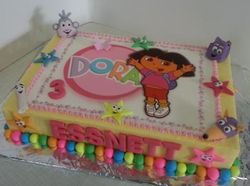 Dora and friends - themed birthday cake