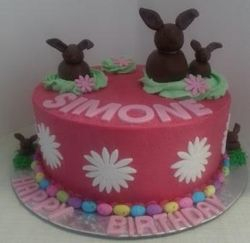 Rabbit in the Garden themed Birthday cake