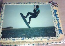 Kitesurfing sheetcake with edible print