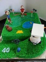 Golf -themed 40th Birthday cake