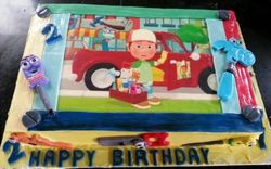 Handy Manny themed cake with fondant tools