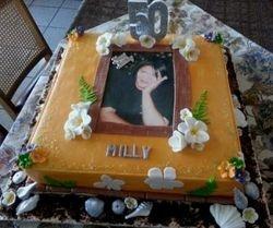 50th Birthday Hawaii themed cake
