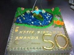 50th Fishing cake
