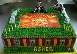 Manchester United Soccer Cake