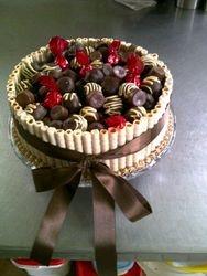 Truffels on Chocolate cake