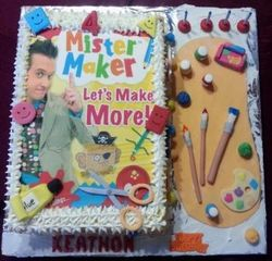 Mister Maker themed birthday cake