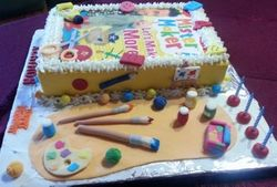 Mr Maker and his tools - Birthday cake