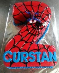 Nr 2 themed cake - spiderman