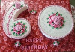 Number 60 cake