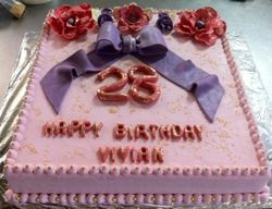 Pink and Purple 28th Birthdaycake