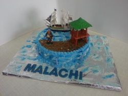 Pirate Island themed cake