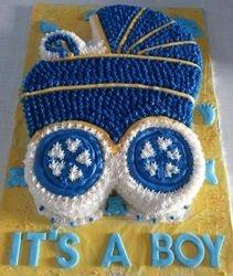 Pram themed cake for boy