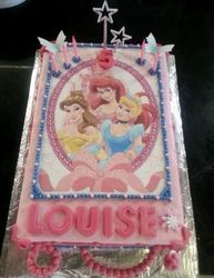 Princess themed birthday cake