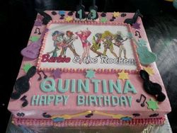 Dancing girls themed cake