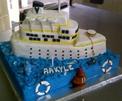 Shipcake for 1st Birthday