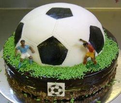 Soccerball on Bar-one Cake