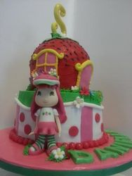 Strawberry Patch themed cake