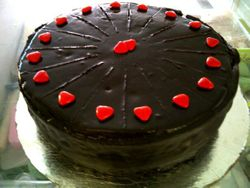 Rich Chocolate cake with rumtruffel filling