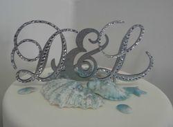 Initials Wedding Cake Topper