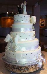 5tier Wedding cake with Fondant Ribbon and Diamantes