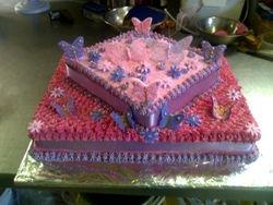 Butterfly 2tier cake