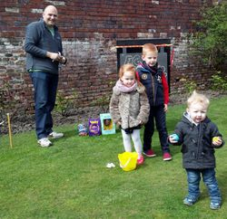 Easter Egg Rolling event - very popular indeed!