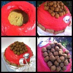 Small birthday cake bowl