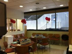 Cedars Blood Donor's Reception area