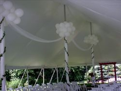 Balloons Added To Tent Pole