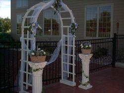 Wood Wedding Arch & Pillars