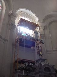 Mary and the Disciples - Removing Center Window Panels