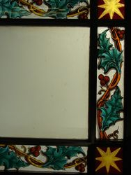Holly Borders and Frosted Glass Reglazed