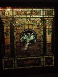 Tiffany Window Framed and Installed -  Roslyn VA