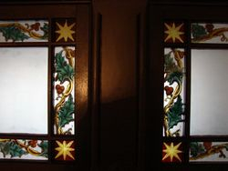 Holly Border Reproduction (right) glass painting  by Indre McCraw