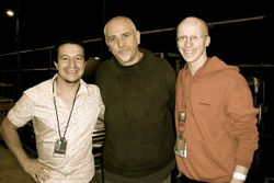 Myself, Peter Gabriel and Ben Edwards