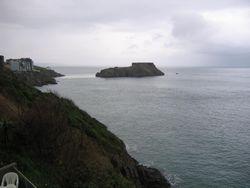 Beautiful view across Pembrokeshire shore