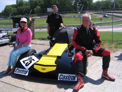 Brands Hatch: Oskar & Yvonne in the sun
