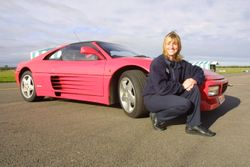 Amanda with Ferrari 348 at Silverstone