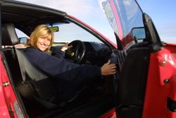 Amanda in Ferrari 348 at Silverstone