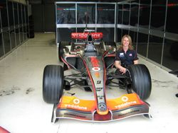McLaren F1 Team - Amanda & the F1 car
