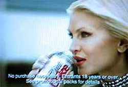 Caprice Diet Coke Advert